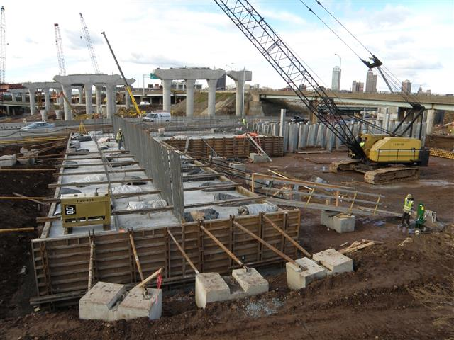 Began installation of concrete abutment footing on I-95 Northbound/Southbound (Bridge 172)