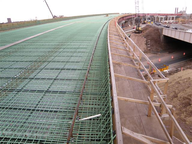 Deck construction for the new I-95 bridge