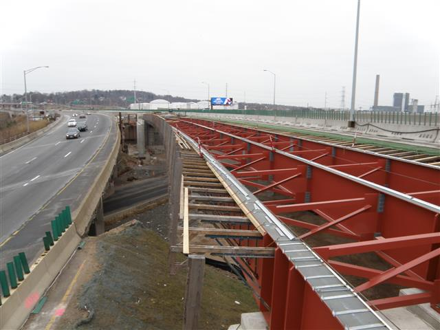 Structural steel for second half of I-95 Northbound east approach