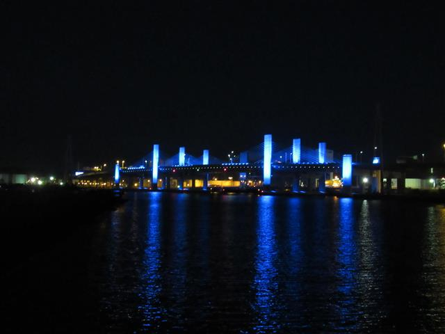 Bridge will be lit in hues of blue and green from March 1st through August 31st each year