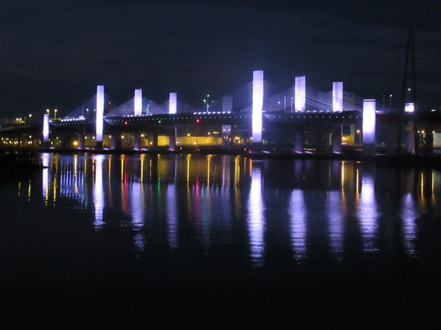 The bridge will be lit in clean white light from September 1st through February 28/29th each year
