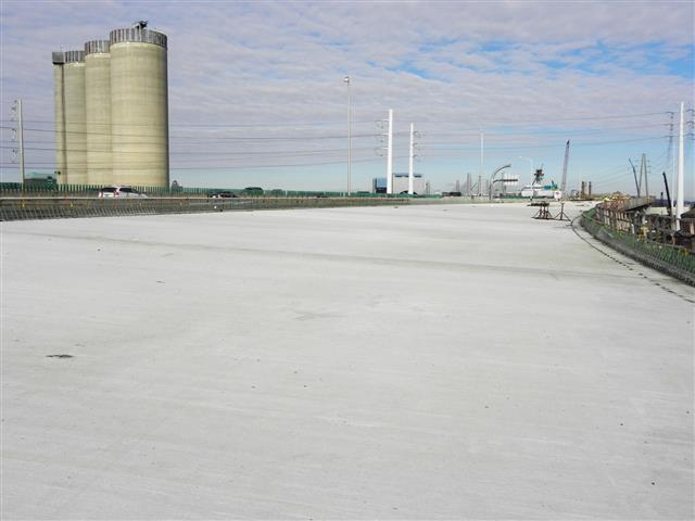 Concrete bridge deck for the I-95 SB Q-Bridge East Approach Structure